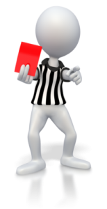 Image of referee and red card